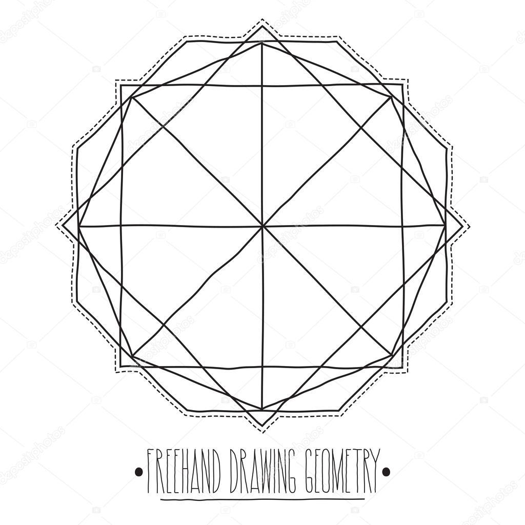 Huecos Figuras Geometricas Y Elementos Con Lineas Poliedros T
