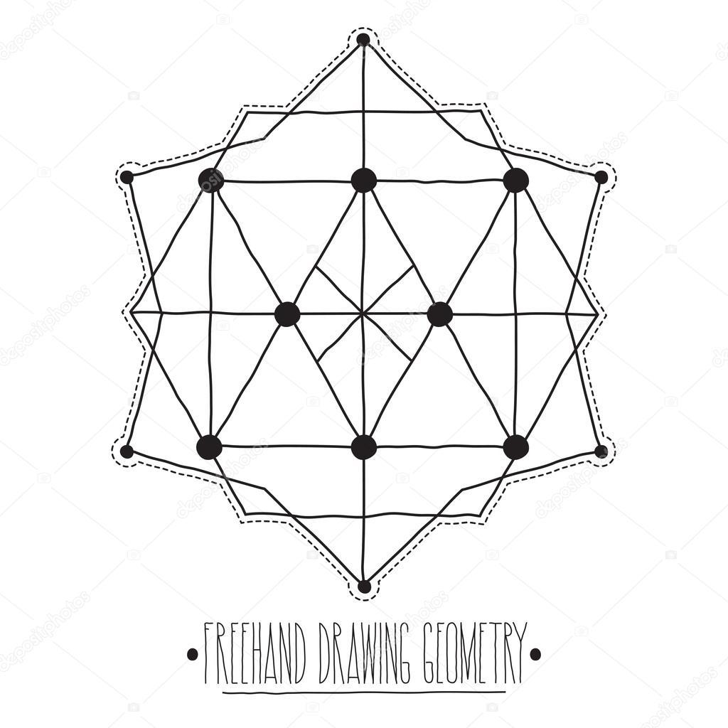 Huecos Figuras Geometricas Y Elementos Con Poliedros De Lineas Tr