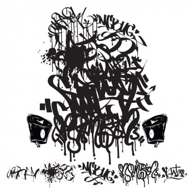 Vector Graffiti Tags - writing