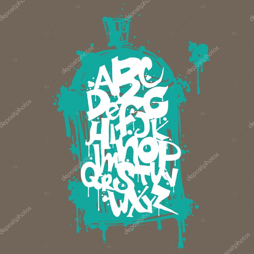 colorful graffiti font alphabet letters hip hop grafitti design stock vector