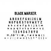 Photo Universal font alphabet vector font for labels, headlines, posters etc