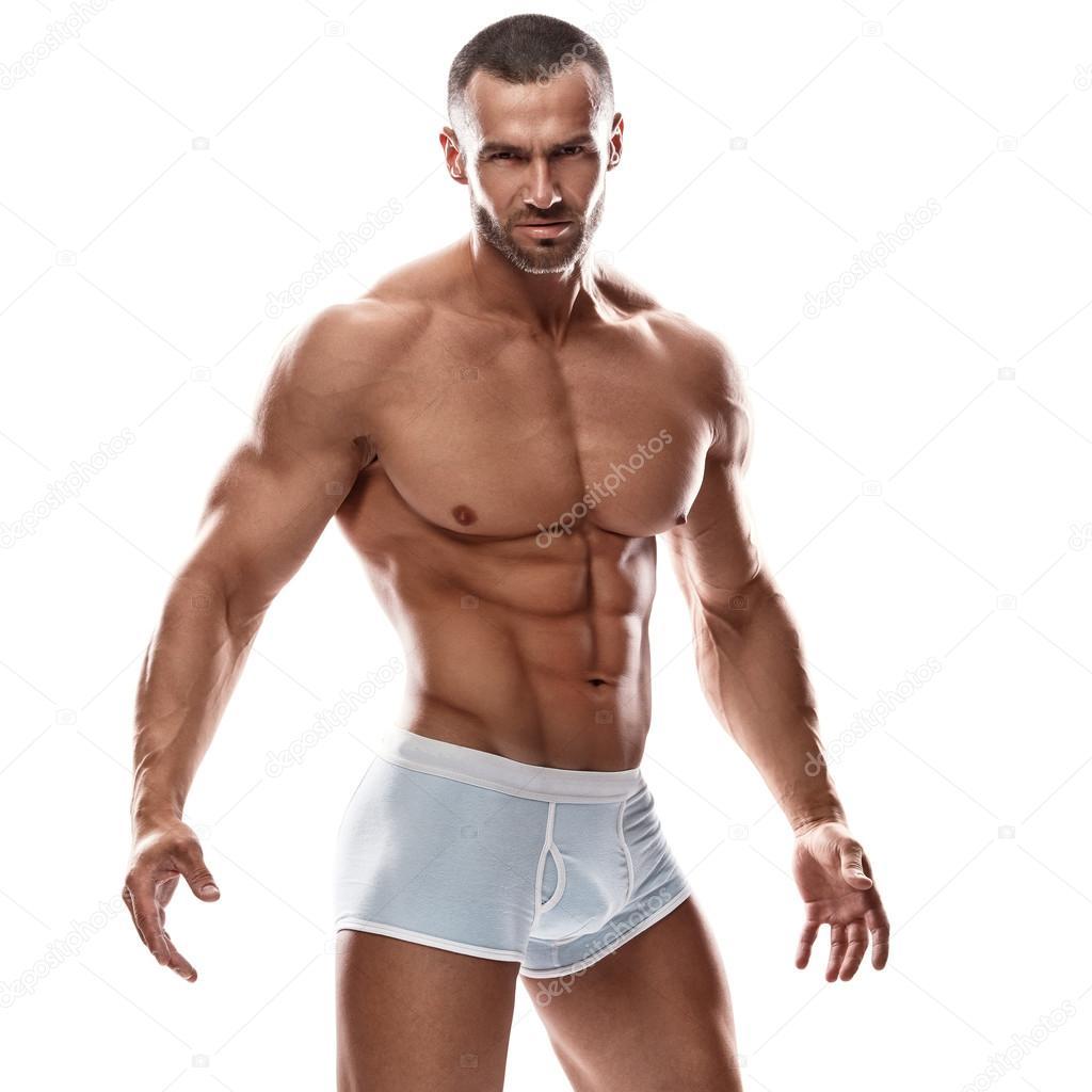 Hombres Sin Boxer Guapos Hombre Guapo Posando En Ropa Interior Foto De Stock Ay Photo