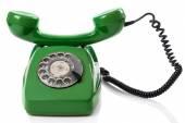 Zelená retro telefon