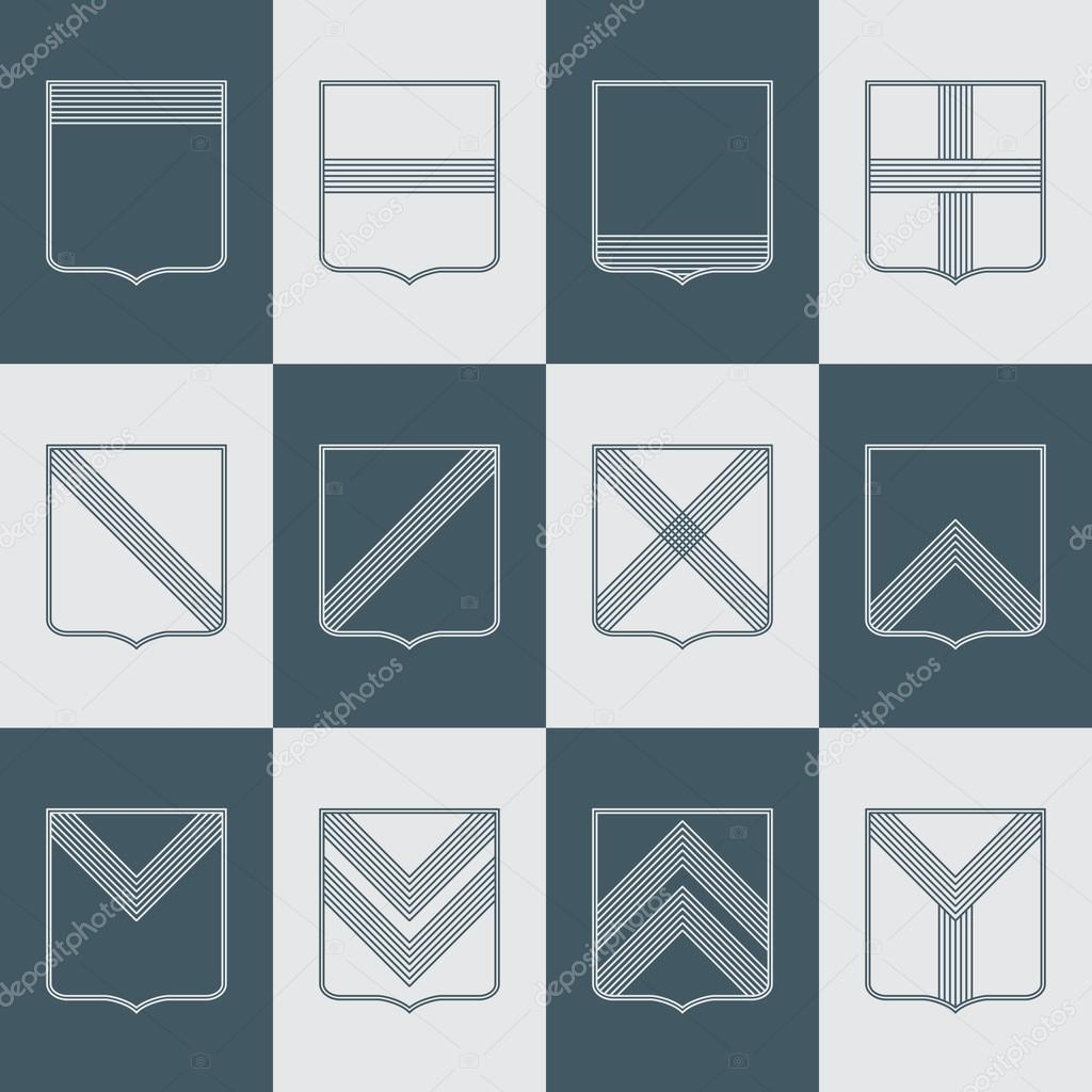 Templates for coat of arms.