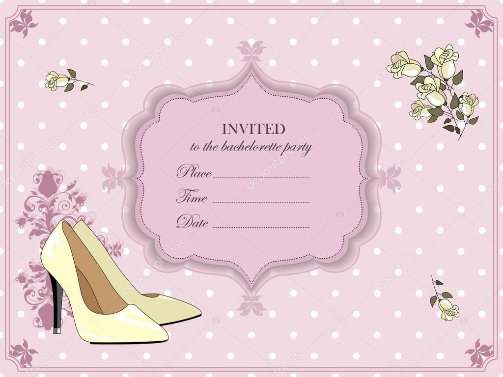 Elegant Invitation For A Bachelorette Party Stock Vector