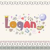 Fotografie Die ursprüngliche Schreibweise des Namens Logan.