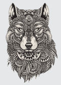 Fotografie Highly detailed abstract wolf illustration