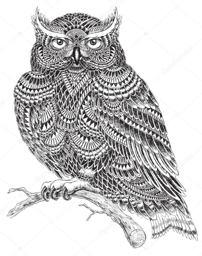 Owl silhouette Stock Vectors, Royalty Free Owl silhouette ...