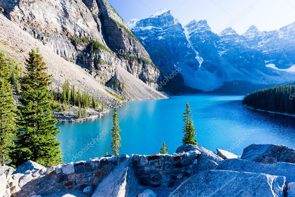Moraine Lake Lac Louise Parc National Banff Canada Photographie