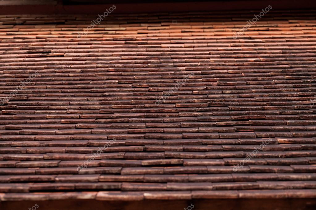 테라코타 backgrou의 오래 된 rasian 나무 지붕 텍스처 타일 — 스톡 ...