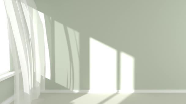 Room with sunlight and the curtains