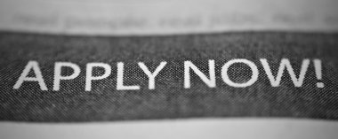 Newspaper Job Application Advertisement