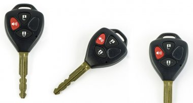 Remote car key isolated on white