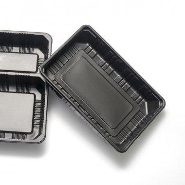 black plastic container