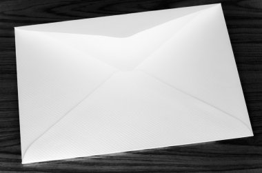 envelope black and white color tone style