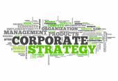 Szó felhő vállalati stratégia