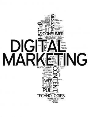 Word Cloud Digital Marketing