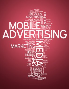 Word Cloud Mobile Advertising