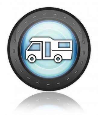Icon, Button, Pictogram Motorhome