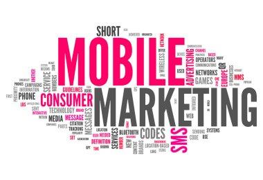 Word Cloud Mobile Marketing