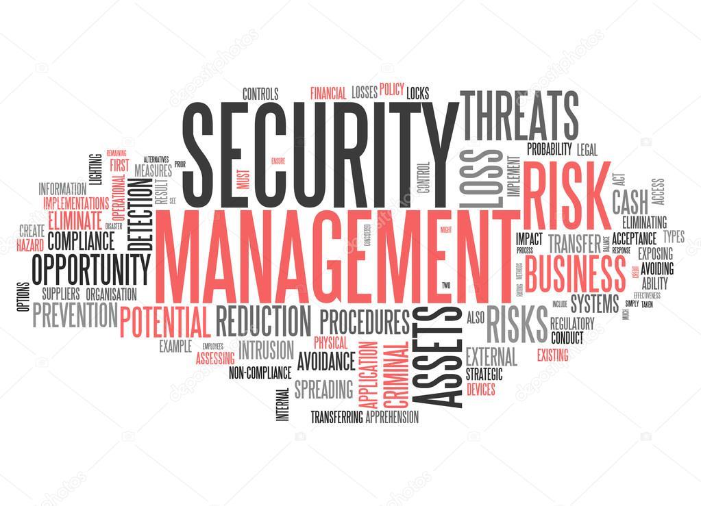 Word Cloud Security Management — Stock Photo © mindscanner