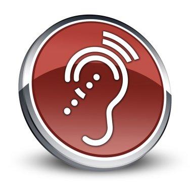 Icon, Button, Pictogram Hearing Impairrment