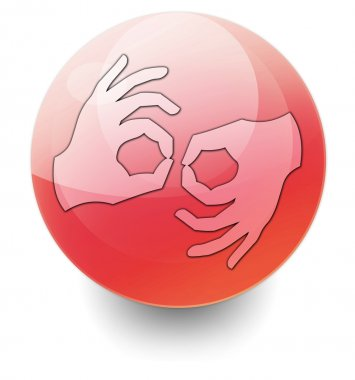 Icon, Button, Pictogram Sign Language