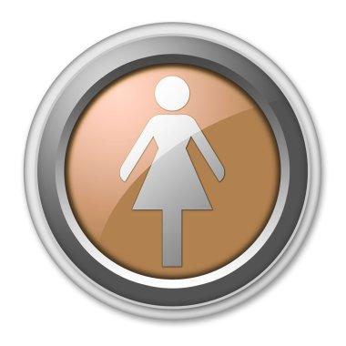 Icon, Button, Pictogram Ladies Restroom
