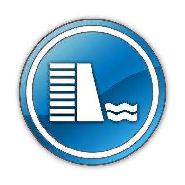 Icon, Button, Pictogram Dam