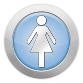 Icon, Button, Pictogram Ladies Restroom