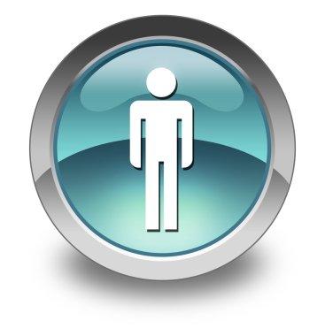 Icon, Button, Pictogram Mens Restroom