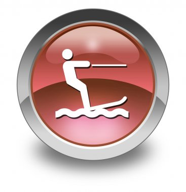 Icon, Button, Pictogram Water Skiing