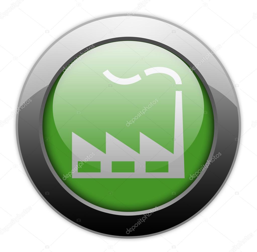 Icono bot n pictograma f brica foto de stock for Icono boton