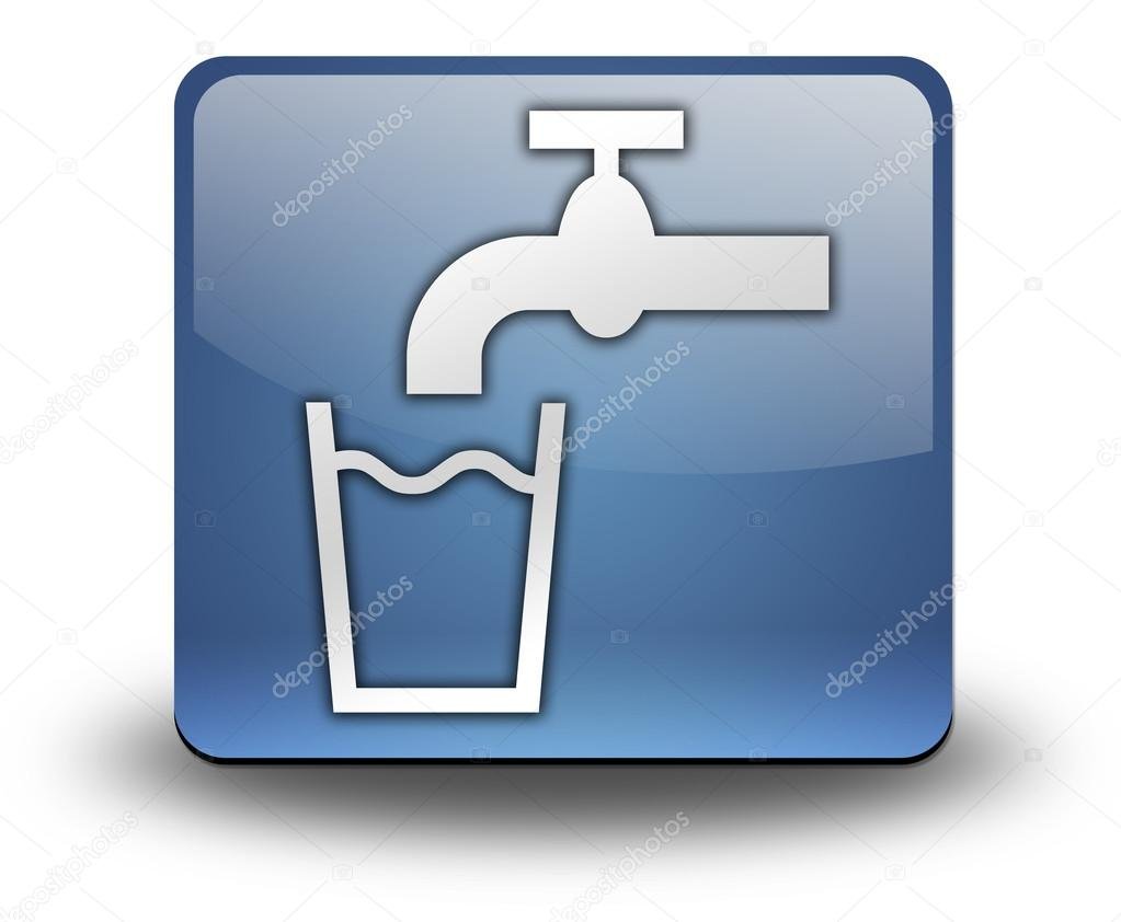 Icon Button Pictogram Running Water Stock Photo Mindscanner
