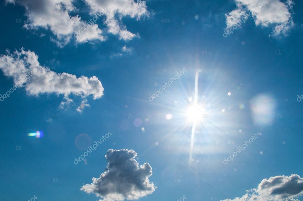 sun fights again the clouds