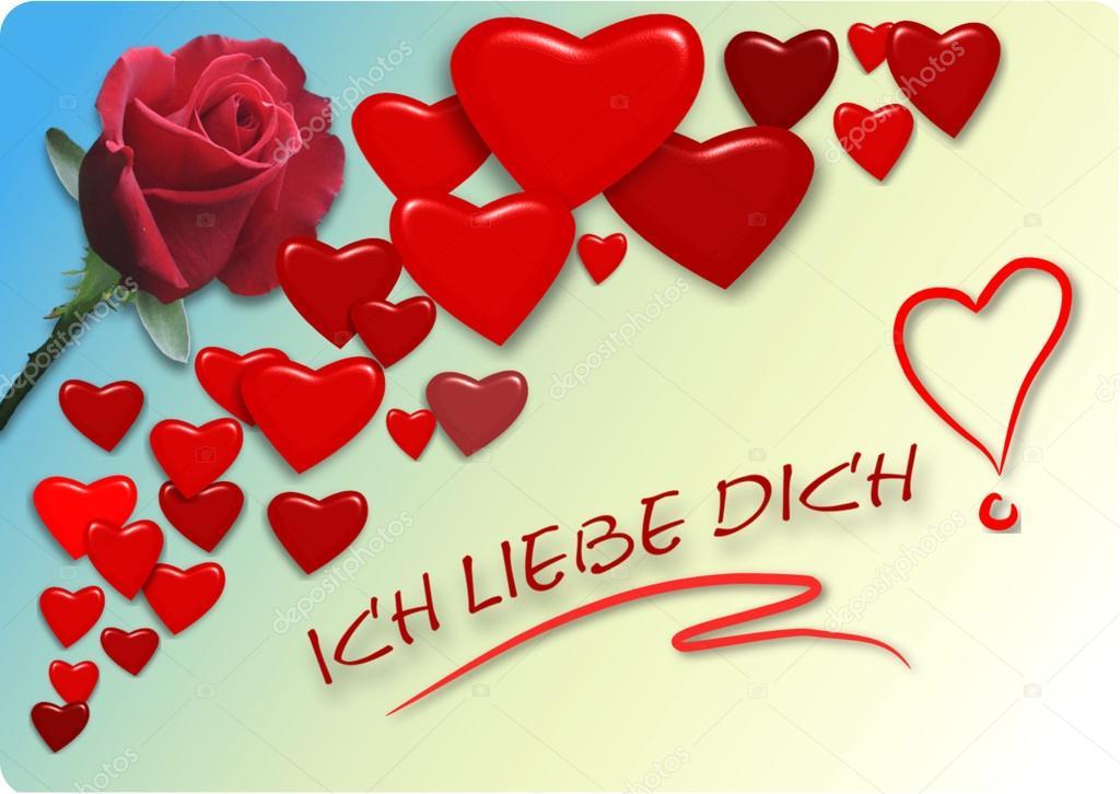 Wenskaart - ich liebe dich — Stockvector © mark1087 #65976607
