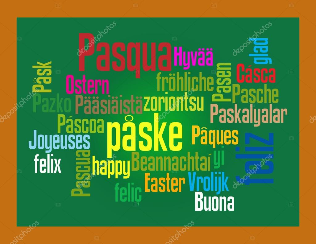 Easter greeting in different languages stock vector mark1087 easter greeting in different languages stock vector m4hsunfo