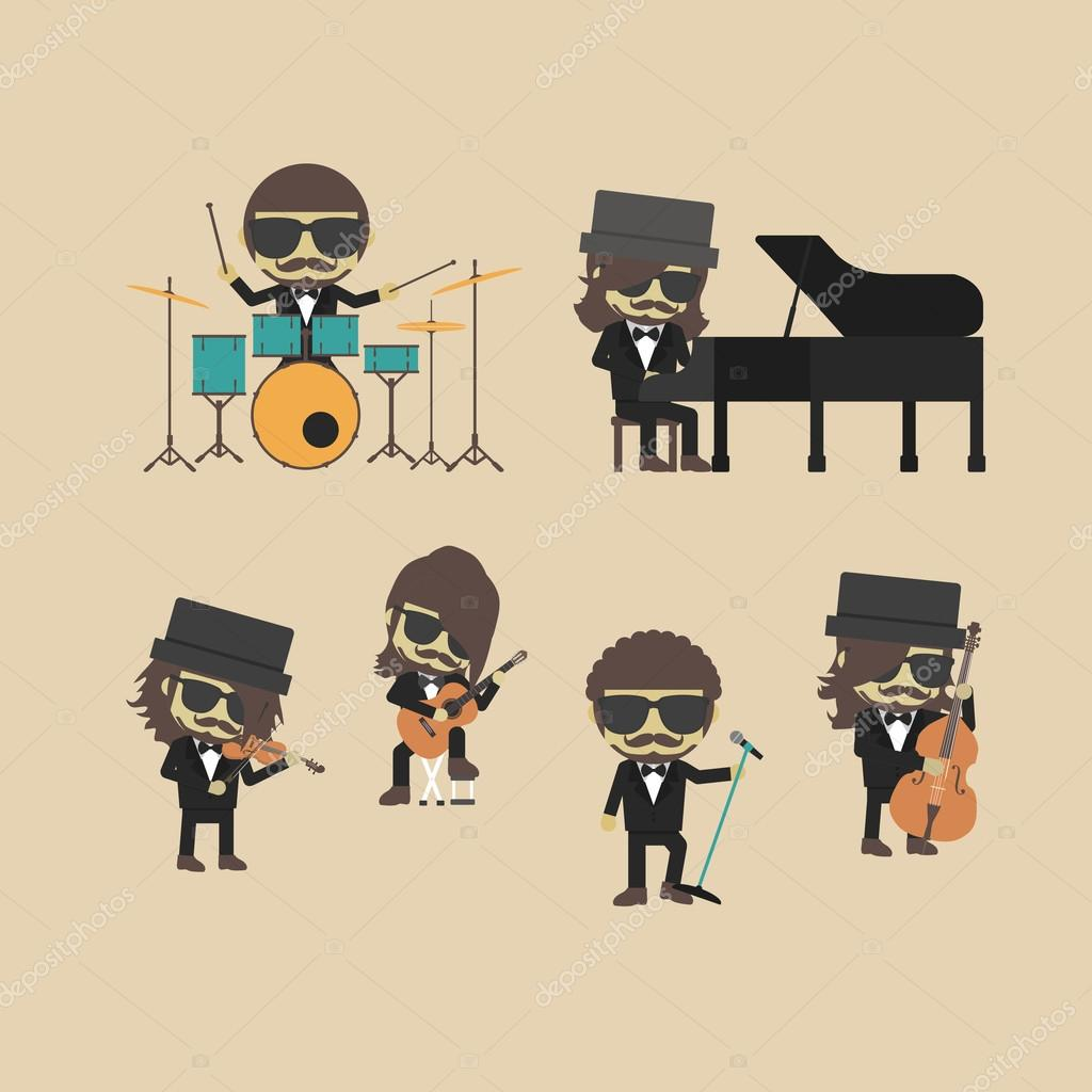 Classical Music Band Stock Vector 92851518