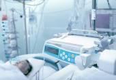 ICU ward with patient unconscious