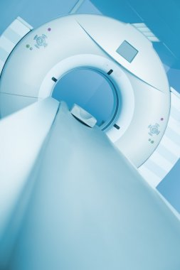 CT scanner is ready to receive the patient