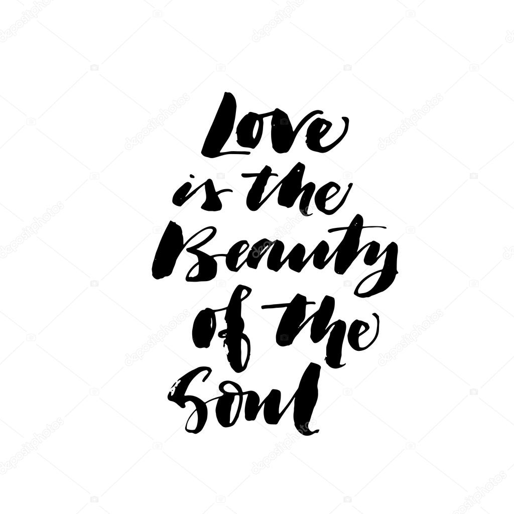 Love Is The Beauty Of The Soul Card Stock Vector Gevko93 112298382