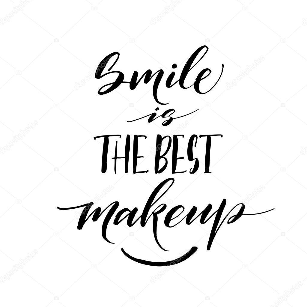 Smile Is The Best Makeup Phrase Stock Vector Gevko93 112301562