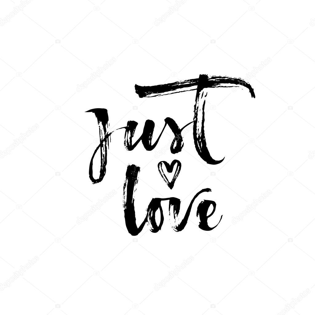 vector just love logo just love card vector de stock gevko93