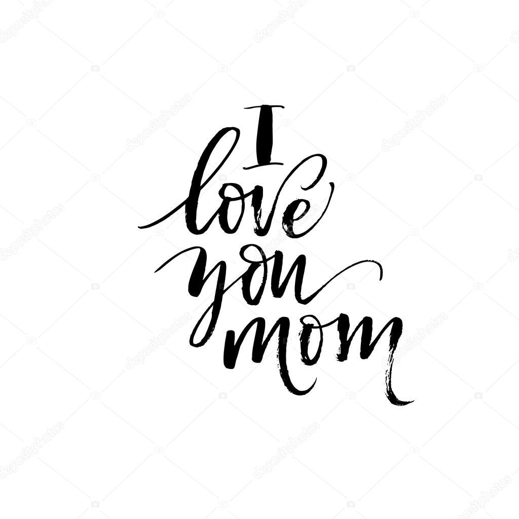 I Love You Mom Phrase Stock Vector C Gevko93 112688080