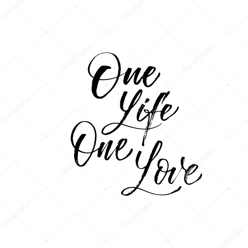 One Life One Love Phrase Stock Vector Gevko93 123205060