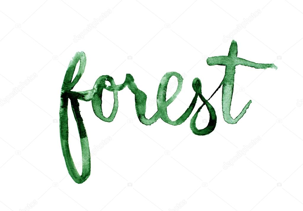 Forest hand lettering.