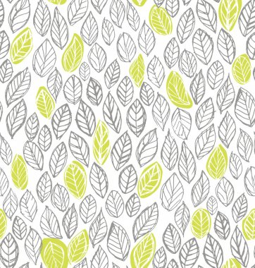 Decorative ornamental seamless spring and autumn pattern.