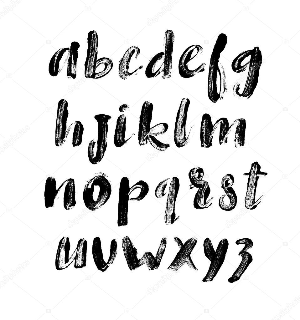Letras del alfabeto. Impresiones de letras. Letras dibujadas mano ...
