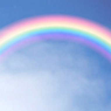 Rainbow in the sky. Vector illustration