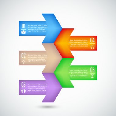 Information graphic templates - arrows